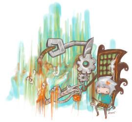 the painting machine. by kuri