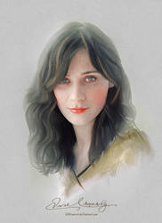 Pretty Face - Zooey Deschanel by artistamroashry
