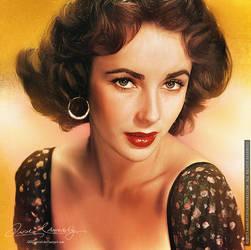 Elizabeth Taylor by artistamroashry