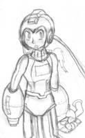A Megaman Sketch by Fragraham