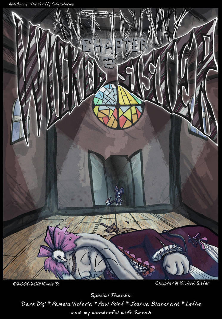 AntiBunny Chapter 2 Wicked Sister Cover: Redraw by Fragraham