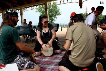 Drum Circle Drummers by dancekellydance