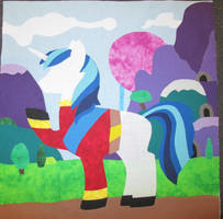 Pony Charity Quilt Shining Armor Square WIP 2 by The-Crafty-Kaiju
