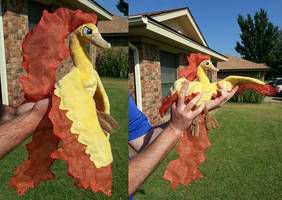 Plush Moltres by The-Crafty-Kaiju