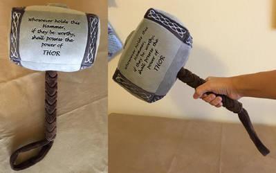 Mjolnir Plush by The-Crafty-Kaiju