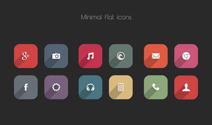 Minimal Flat icons by DD-Ripper