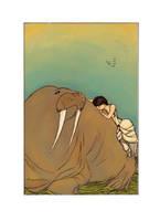 Walrus by OLIVESELKIE