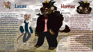 Lucas and Horrus refs by parasolhyena