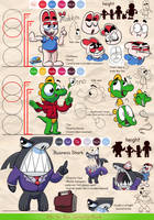 Rabbit and Dino - Reference sheet 1 by MarkProductions