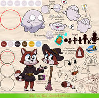 Ghooost and Witch Kitten - Reference sheet by MarkProductions