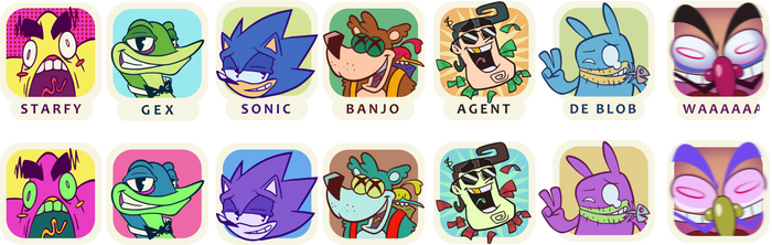 Character icons by MarkProductions
