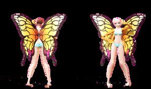 .:MMD DL:. TDA Butterfly Base by LilMissLillie