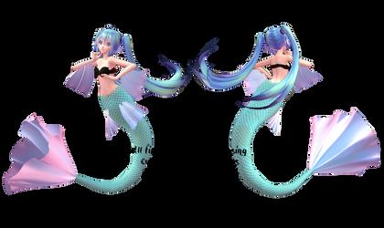 .:MMD DL:. TDA Tropical Mermaid Base by LilMissLillie