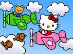 Hello Kitty on a Airplane (Coloring Book) by Kittykun123