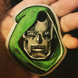 Dr. Doom sticker by KingOfSoul81