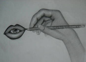 Hand Drawing a Mouth Eating an Eye by Hope-Sentinels-Alive