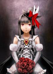Red eye,Gothic girl by shura117