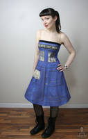 Dr. Who Tardis police box dress by smarmy-clothes
