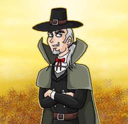 Vlad as pilgrim at Thanksgiving by kaitlynrager