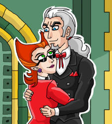 Vlad x Spectra hug in his home by kaitlynrager