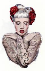 miss-mosh-Tattoo Girl by mjwatson