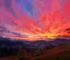 Pink Sunset by O-l-i-v-i