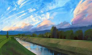 Landscape study #12 by O-l-i-v-i