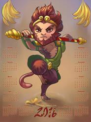 Monkey King / Calendar 2016 by O-l-i-v-i
