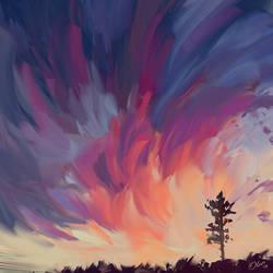 Sunset sketch by O-l-i-v-i