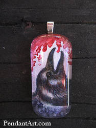 Nevermore - Glass Pendant by thornwolf
