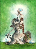Earth Priestess by thornwolf