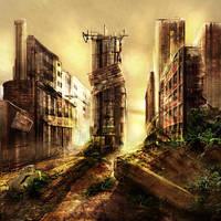 Post Apocalyptic Scene.... by MilanPad