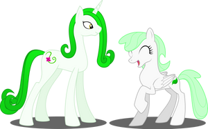 Nature and Vineheart (Original Characters) by Soren-the-Owl