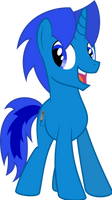 Happy Bluenicorn by Soren-the-Owl