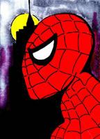 Spiderman sketch card by mentaldiversions