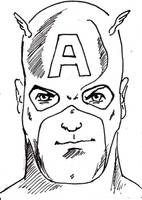 Captain America before colors by mentaldiversions