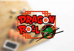 Logo Sushi Dragon Roll by disenoteca