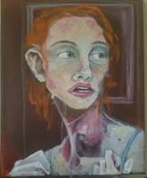Study for a portrait. (Hair of Autumn). by BlackSerpentsIndigo