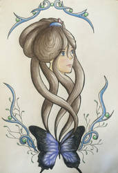 Spirit of a Blue Butterfly  by Iloveowls1125