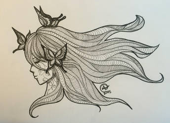 The Lonely Butterfly by Iloveowls1125