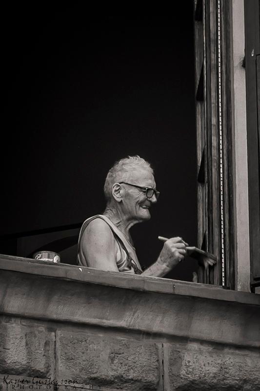 Man Painting In Firenze by KasperGustavsson