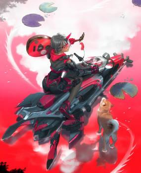 The carp rider who chase dragon by mad-jojo