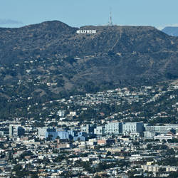 View of Hollywood and the Sign by 4umypix