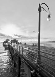 The Pier in Black and White by 4umypix