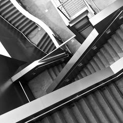 Stairs, Stairs and More Stairs, Black and White by 4umypix