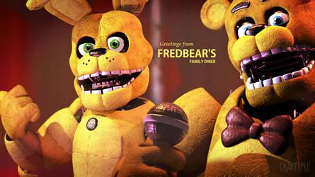 Greetings from Fredbear's! [4k, FNAF] by GravityPro