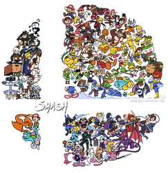 Super Smash Bros. Ultimate by Zerocakes