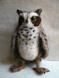 Needle Felted Great Horned Owl by JessieDockins