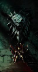 Lion throne by NordikArts