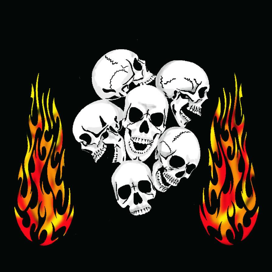 Skulls N Flames By Locutus2of1 On Deviantart